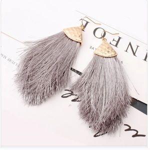 Fringe Peacock earrings